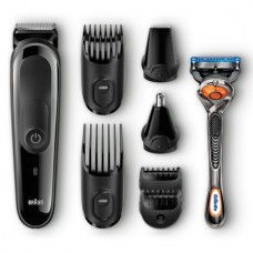 Braun Multi Grooming Kit MGK3060 ($5 Rebate Available) – 8-in-1 Beard / Hair Trimmer for Men, Precision Face and Head Trimming