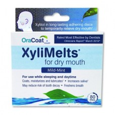 OraCoat XyliMelts for dry mouth, Mild Mint, 80 ct Box