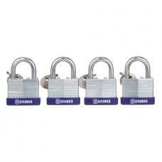 Brink's 40mm Laminated Steel Padlock, 4-Pack