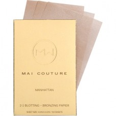 Mai Couture 2-in-1 Blotting and Bronzing Papier, Manhattan, 100 Ct