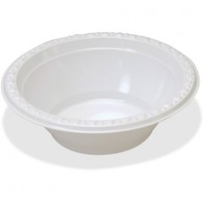Tablemate Party Expressions Plastic Bowls, White, 125 / Pack (Quantity)