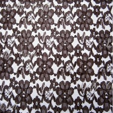 Brown Rachelle Lace 58 Inch Fabric 5 Yard Bolt