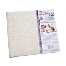 Scrapbook Natural Fabric 8X8 With 10 Top Load Page Protector