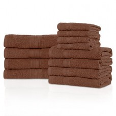 Superior Eco-friendly 100% Cotton,Ultra Absorbent 12-Piece Towel Set