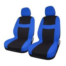 8 piece Blue Black Car Seat Covers with Headrest for Auto Truck