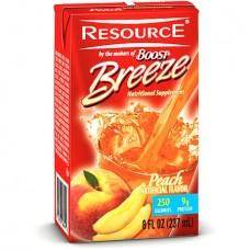 Resource Breeze, Clear liquid nutrition beverage, Peach 27 X 8-Ounce