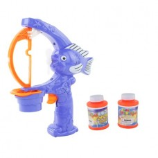 Blue Fish Pumper Bubble Blowing Battery Operated Toy with Lights & Sound, Fun Bubbles for Kids.