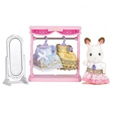 Calico Critters Dressing Area Set with Bell Hopscotch Rabbit