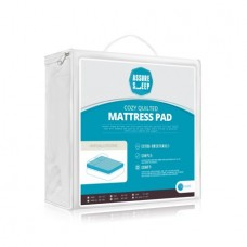 Assure Sleep Quilted Waterproof Mattress Pad Cover, Twin XL