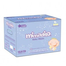 Mimadito Baby Wipes Value Box, Scented, 12 packs of 72 (864 count)