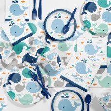 Blue Baby Whale Baby Shower Kit