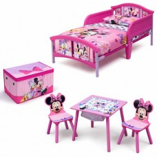 Disney Minnie Mouse Room-in a Box with BONUS Table & Chairs Set