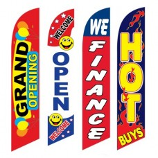 4 Advertising Swooper Flags Grand Opening Welcome Open We Finance Hot Buys