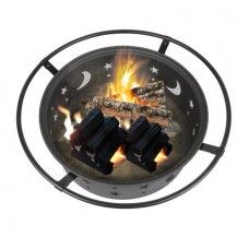 Outdoor Multifunction Fireplace Backyard Wood Burning Heater Steel Bowl Patio Fire Pit Firepit BBQ Stove Star Pattern