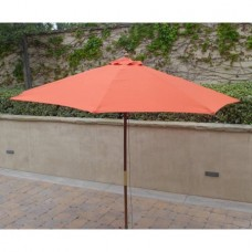 Formosa Covers 9ft Umbrella Replacement Canopy 8 Ribs in Orange (Canopy Only)