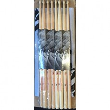 Vic Firth American Classic Value Pack 4 Pairs 5b with Bonus Free Authentic Vf Towel