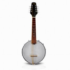 8-String Mandolin-Banjo Hybrid with White Jade Tuner Pegs & Rosewood Fretboard