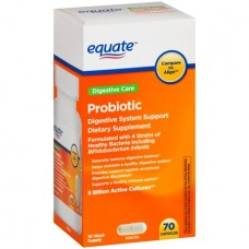Equate Probiotic Digestive System Support Capsules, 70 Ct