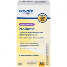 Equate Probiotic Digestive System Support Dietary Supplement, 50 Ct